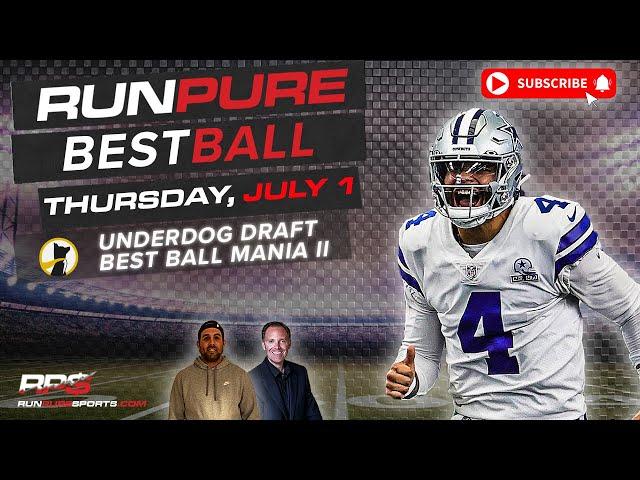NFL BEST BALL DRAFTING - UNDERDOG BEST BALL MANIA II