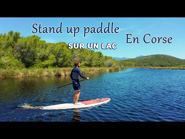 Paddle en Corse - Sur un lac dans le désert des agriates (drone corse 2020)