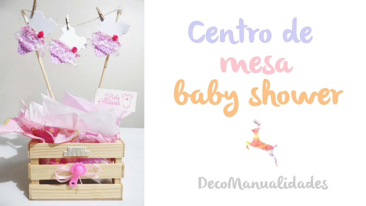 Centro de mesa baby shower youtube for Centro de mesa baby shower