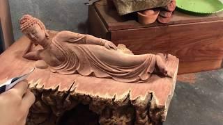 Cách làm tượng phật bằng gỗ độc đáo và lạ - sáng tạo mà bạn chưa từng thấy.