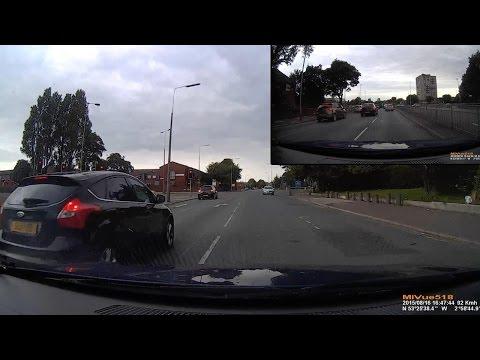 Crazy Taxi Driver Speeding at 80 mph Through Liverpool (Dash-cam)