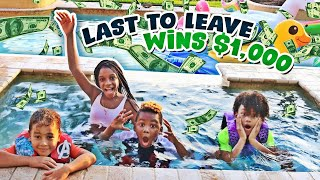 Last to Leave the Pool Wins $1,000