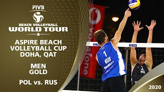 Men's Gold Medal: POL vs. RUS | 1* Doha (QAT) - 2020 FIVB Beach Volleyball World Tour