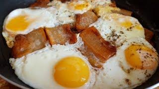 Скробо. Яичница с салом по - цыгански. Gipsy cuisine.🍳👍
