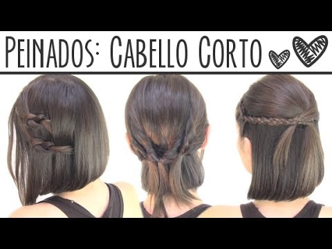 Peinados Faciles Para Cabello Corto Short Hair Hairstyles Youtube