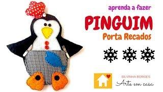 Olha que Fofo o Pinguim Porta Recados! Faça fácil!!