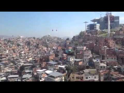 The new Rio Cable Car system. Video from in car heading up