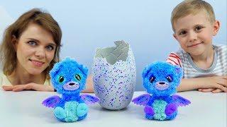 ХЭТЧИМАЛС БЛИЗНЕЦЫ в Яйце Оригинал. Видео для детей с игрушками Hatchimals Surprise Twins