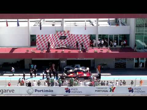 FIA GT3 European Championship Portimao podium celebration 08/05/2011