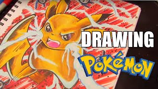 How To Draw Pikachu ( POKEMON speed drawing)