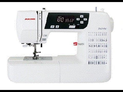 Maquina de coser Janome 2160DC - YouTube