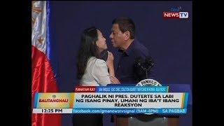 Paghalik ni Pres. Duterte sa labi ng isang Pinay, umani ng iba't ibang reaksyon