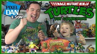 Teenage Mutant Ninja Turtles Action Figures - Pixel Dan and Son Toy Collection!