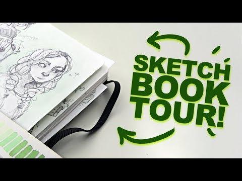 THE GOOD AND THE BAD?! | Peek Inside My Sketchbook! | Sketchbook 20 Tour