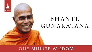 One-Minute Wisdom: Bhante Gunaratana on Bowing to the Buddha