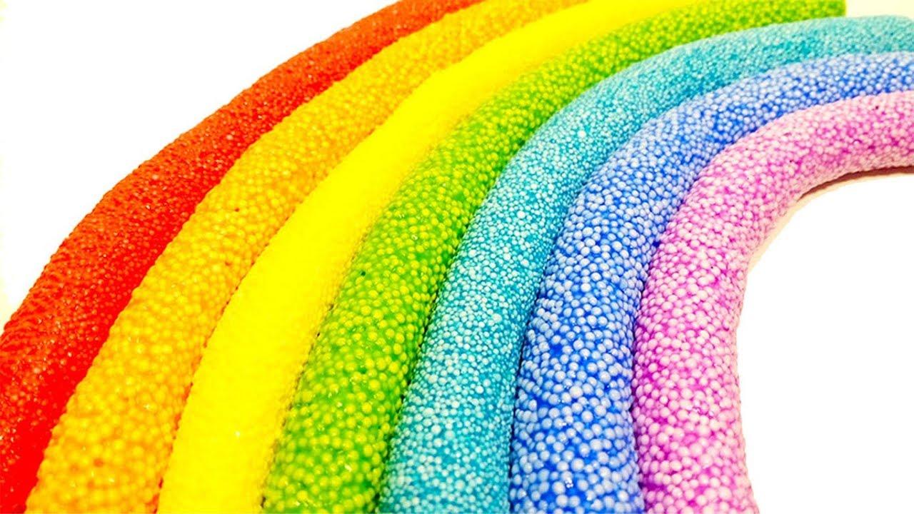 Как сделать радугу из шарикового пластилина. Учим цвета на ...