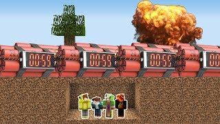 Minecraft NÜKLEER BOMBA'YA KARŞI %100 GÜVENLİ SIĞINAK!