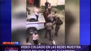 Video colgado en las redes muestra abuso policial en Los Alcarrizos