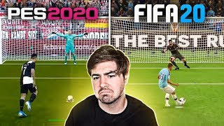FIFA 20 VS PES 20 NAS COBRANÇAS DE PENALTIS!!! QUAL ESTÁ MELHOR?
