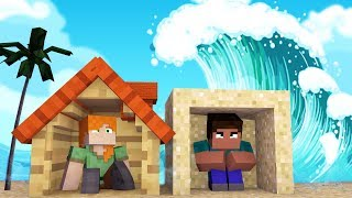 Minecraft: DESAFIO DA BASE 100% SEGURA TSUNAMI | Afreim