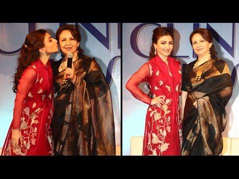 Soha Ali Khan With Mother Sharmila At Clinic Plus Scholarship Event