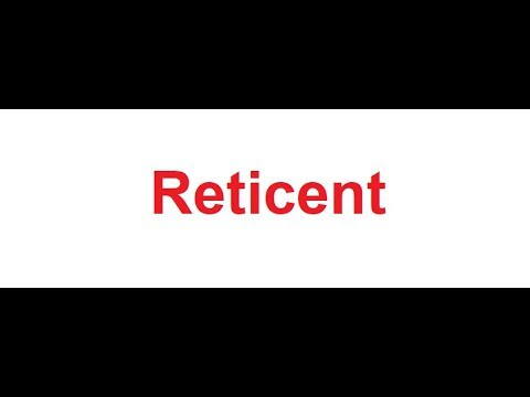 Reticent meaning in Hindi - YouTube