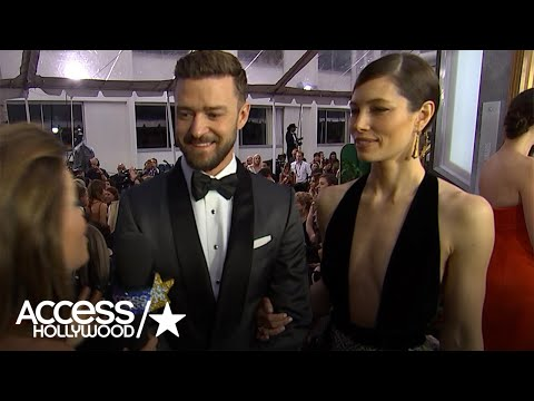 Thumbnail: Justin Timberlake Reacts To Jessica Biel's Fab Golden Globes Look