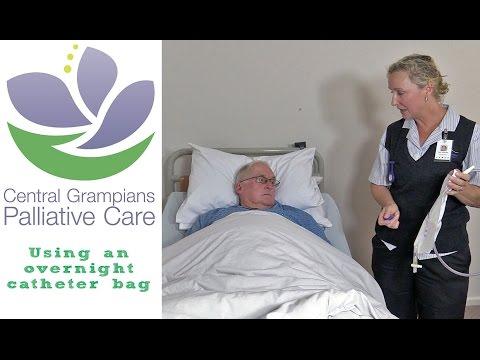 Using an overnight catheter bag