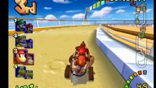 Mario Kart Double Dash - Donkey Kong & Diddy Kong - Flower Cup 100cc