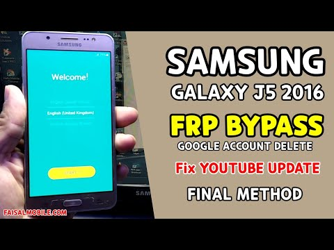 Samsung J5 2016 (SM-J510) FRP Lock Bypass 2021 || Fix YouTube Update || ANDROID 7/Android 6 Final Method