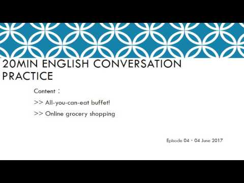 20min English Conversation Practice04 ~ Buffet | Online Grocery Shopping Apps