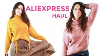 ALIEXPRESS TRY-ON HAUL FALL WINTER 2018 //  HUGE TRENDY AND CUTE ALIEXPRESS CLOTHING HAUL
