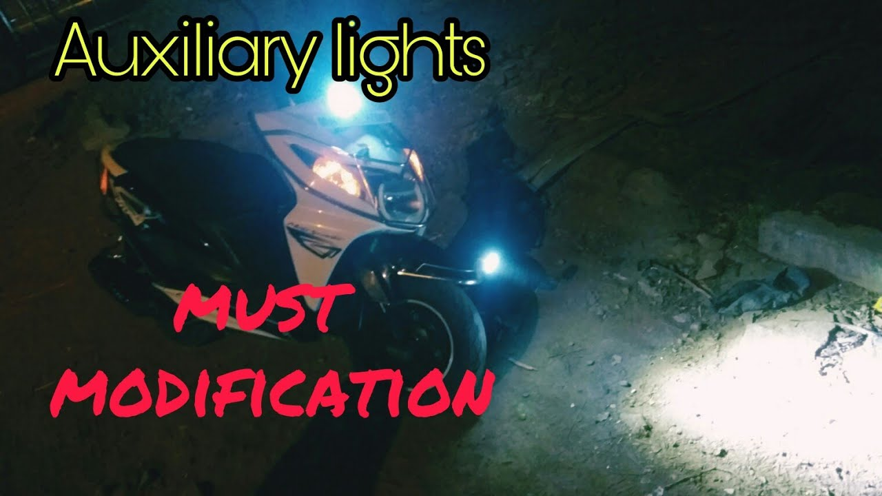 how to install fog lights in any scooters honda dio by hetero genius [ 1280 x 720 Pixel ]