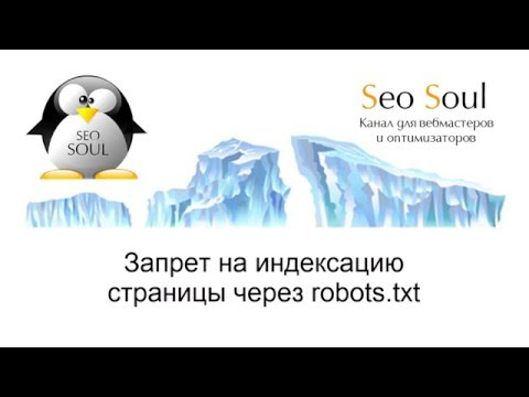 Запрет на индексацию через robots.txt