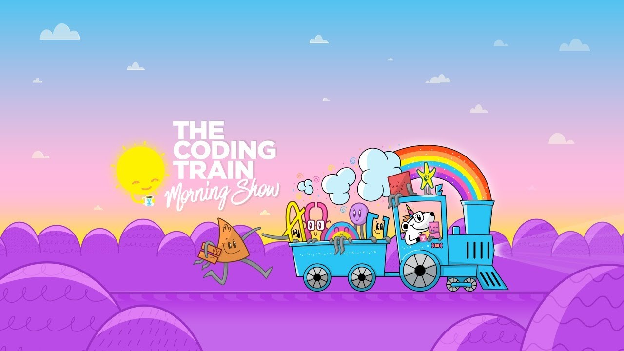 The Coding Train Morning Show: Marching Squares and Flocking Mewchoo