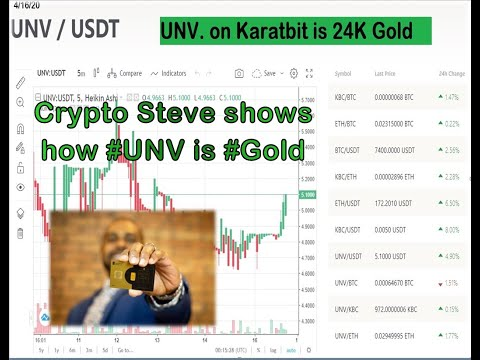 #CryptoSteve Shows How #UNV On Karatbit Is 24K Gold Bullion With A 30% #Arbitrage #Karatbars#KBC#BTC