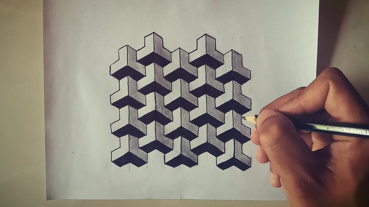 Belajar Cara Menggambar Ilusi Optik 3d Youtube