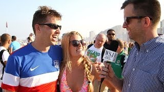 U.S. Soccer Fans at World Cup Discuss Hot Sports Topics