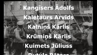 Latvijas Brīvības cīņās 1918. - 1920.gadā kritušie karavīri