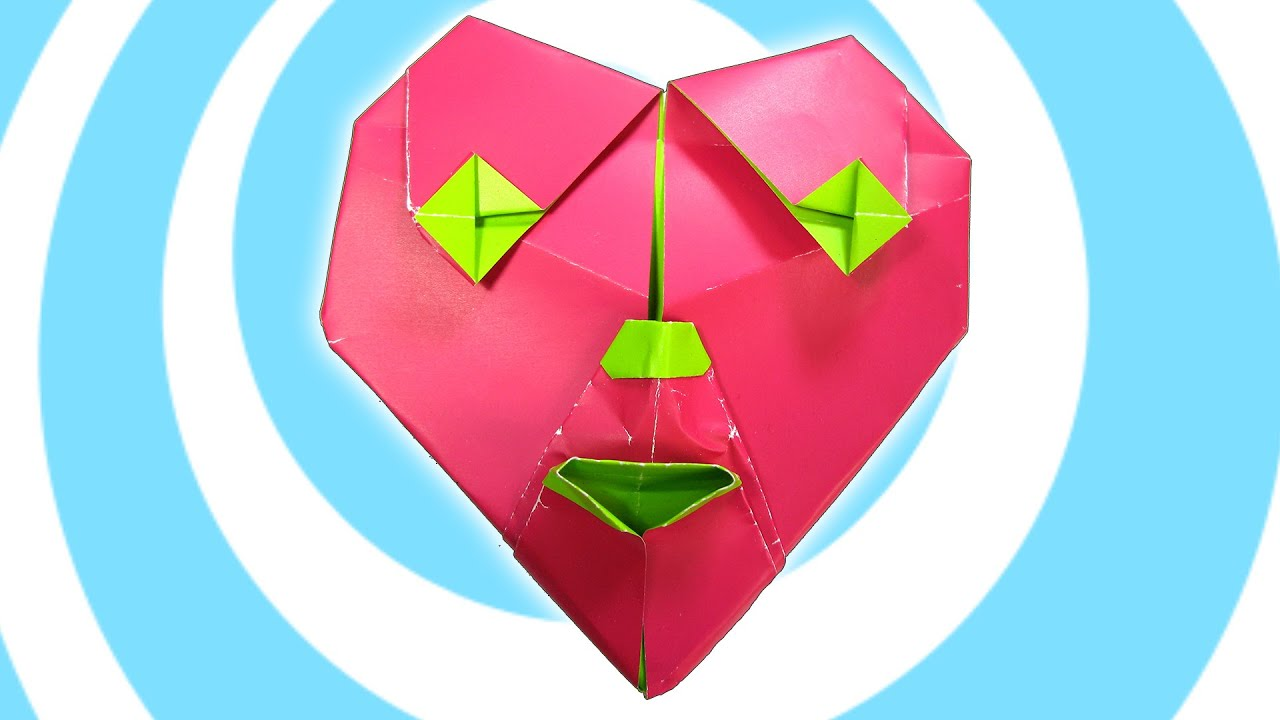 Origami heart of a clown tutorial gilad aharoni youtube jeuxipadfo Image collections