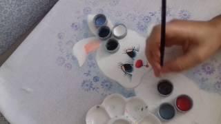 Pintura em Tecido – Aprenda pintar Coelhinho da Páscoa