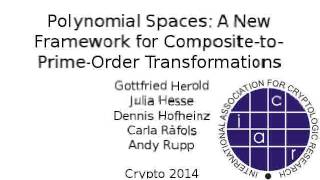 Polynomial Spaces: A New Framework for Composite-to-Prime-Order Transformations