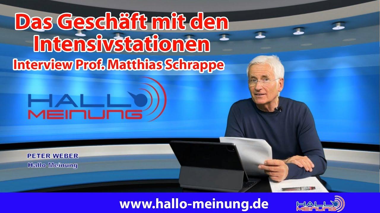 Das Geschäft mit den Intensivstationen - Interview Prof. Matthias Schrappe