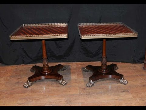 Regency Parquetry Inlay Side Tables