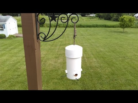 Delightful Make DIY Type 1 Cheap U0026 Easy Small Birds Feeder Squirrel Big Grackle Crow  Proof PVC Pipe U0026 Wood Top