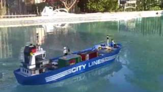 LEGO Cargo Ship On My Pool