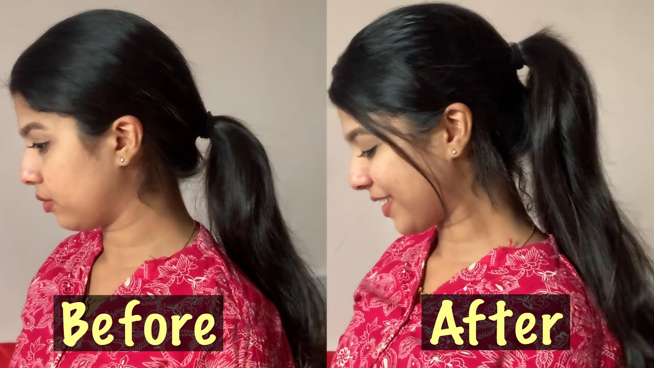 HOW TO: HIGH VOLUMINOUS PONYTAIL HAIRSTYLE||simple hairstyle Malayalam - YouTube