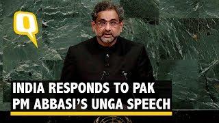 Pakistan is Terroristan: India Hits Back at Pak PM Abbasi at UNGA - The Quint