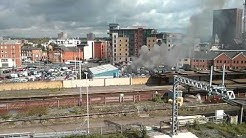 Fire in Manchester car park