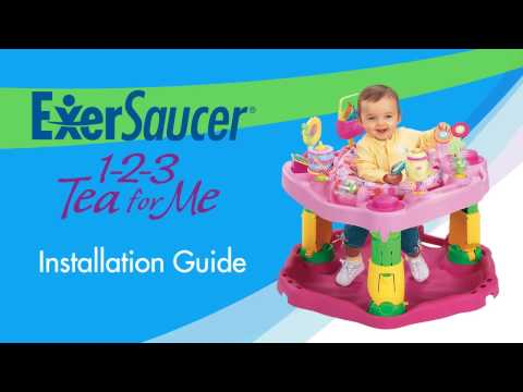 ExerSaucer Assembly:  evenflo 1-2-3 Tea for Me ExerSaucer